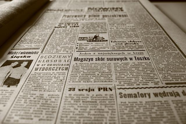 Kleinanzeige in der Zeitung